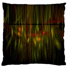 Fractal Rain Standard Flano Cushion Case (Two Sides)