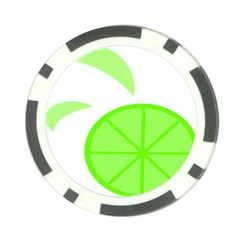 Fruit Lime Green Poker Chip Card Guard