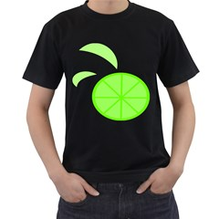 Fruit Lime Green Men s T-Shirt (Black)