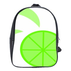Fruit Lime Green School Bags(Large)