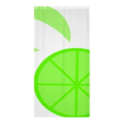 Fruit Lime Green Shower Curtain 36  x 72  (Stall)