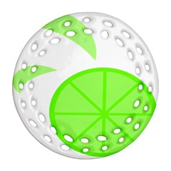 Fruit Lime Green Ornament (Round Filigree)
