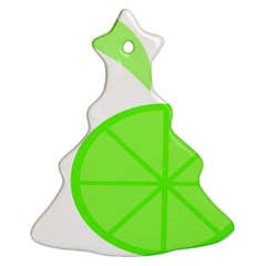 Fruit Lime Green Christmas Tree Ornament (Two Sides)
