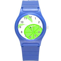 Fruit Lime Green Round Plastic Sport Watch (S)