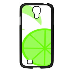 Fruit Lime Green Samsung Galaxy S4 I9500/ I9505 Case (Black)