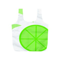 Fruit Lime Green Full Print Recycle Bags (S)