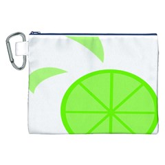 Fruit Lime Green Canvas Cosmetic Bag (XXL)