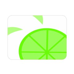 Fruit Lime Green Double Sided Flano Blanket (Mini)