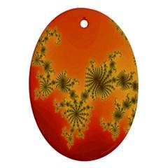 Decorative Fractal Spiral Ornament (Oval)
