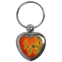 Decorative Fractal Spiral Key Chains (Heart)