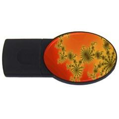 Decorative Fractal Spiral Usb Flash Drive Oval (2 Gb)