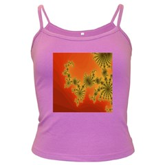 Decorative Fractal Spiral Dark Spaghetti Tank