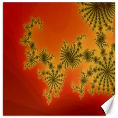 Decorative Fractal Spiral Canvas 12  x 12
