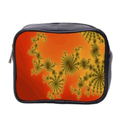 Decorative Fractal Spiral Mini Toiletries Bag 2 Side