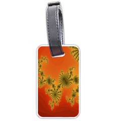 Decorative Fractal Spiral Luggage Tags (two Sides)