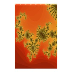 Decorative Fractal Spiral Shower Curtain 48  X 72  (small)