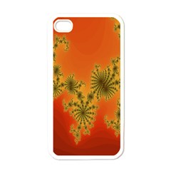 Decorative Fractal Spiral Apple iPhone 4 Case (White)