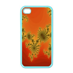 Decorative Fractal Spiral Apple iPhone 4 Case (Color)