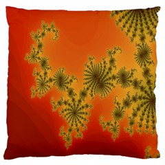 Decorative Fractal Spiral Large Cushion Case (Two Sides)