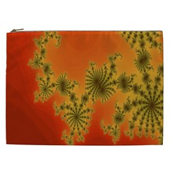Decorative Fractal Spiral Cosmetic Bag (XXL)