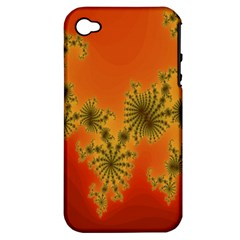Decorative Fractal Spiral Apple iPhone 4/4S Hardshell Case (PC+Silicone)