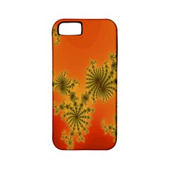 Decorative Fractal Spiral Apple iPhone 5 Classic Hardshell Case (PC+Silicone)
