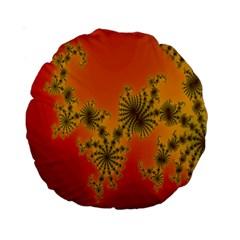 Decorative Fractal Spiral Standard 15  Premium Round Cushions