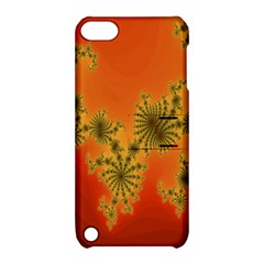 Decorative Fractal Spiral Apple iPod Touch 5 Hardshell Case with Stand