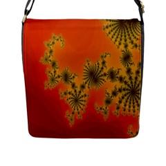Decorative Fractal Spiral Flap Messenger Bag (L)