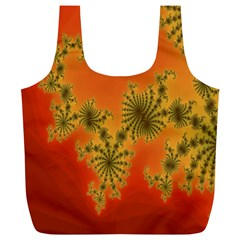 Decorative Fractal Spiral Full Print Recycle Bags (L)