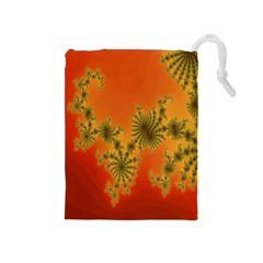 Decorative Fractal Spiral Drawstring Pouches (Medium)