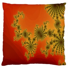 Decorative Fractal Spiral Large Flano Cushion Case (Two Sides)