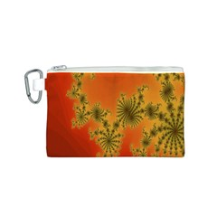 Decorative Fractal Spiral Canvas Cosmetic Bag (S)