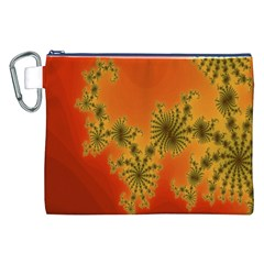 Decorative Fractal Spiral Canvas Cosmetic Bag (XXL)
