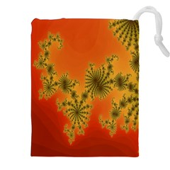 Decorative Fractal Spiral Drawstring Pouches (xxl)