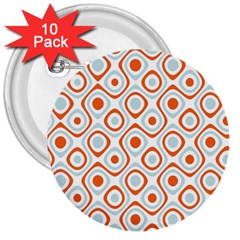 Pattern Background Abstract 3  Buttons (10 Pack)