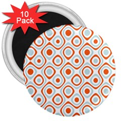 Pattern Background Abstract 3  Magnets (10 Pack)