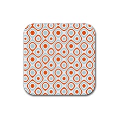 Pattern Background Abstract Rubber Square Coaster (4 Pack)
