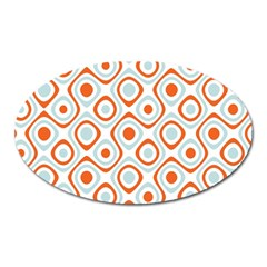 Pattern Background Abstract Oval Magnet