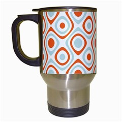 Pattern Background Abstract Travel Mugs (white)