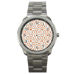 Pattern Background Abstract Sport Metal Watch
