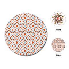 Pattern Background Abstract Playing Cards (Round)