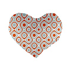 Pattern Background Abstract Standard 16  Premium Heart Shape Cushions