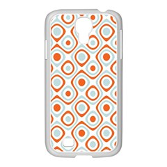 Pattern Background Abstract Samsung GALAXY S4 I9500/ I9505 Case (White)