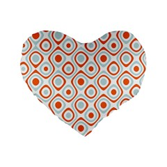 Pattern Background Abstract Standard 16  Premium Flano Heart Shape Cushions