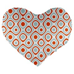Pattern Background Abstract Large 19  Premium Flano Heart Shape Cushions