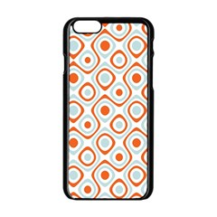 Pattern Background Abstract Apple iPhone 6/6S Black Enamel Case