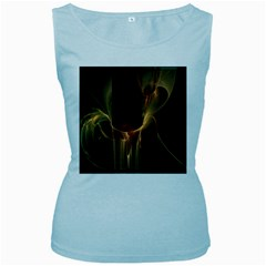 Fractal Image Women s Baby Blue Tank Top