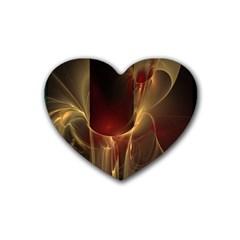 Fractal Image Rubber Coaster (Heart)