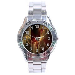 Fractal Image Stainless Steel Analogue Watch
